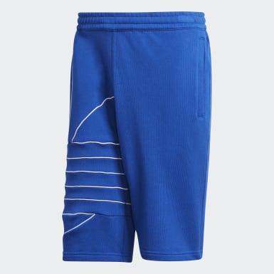 Shorts Big Trefoil Sweat Azul Homem Originals