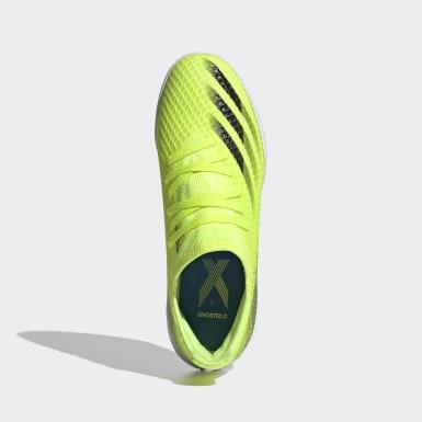 Jungen Futsal X Ghosted.3 IN Fußballschuh Gelb