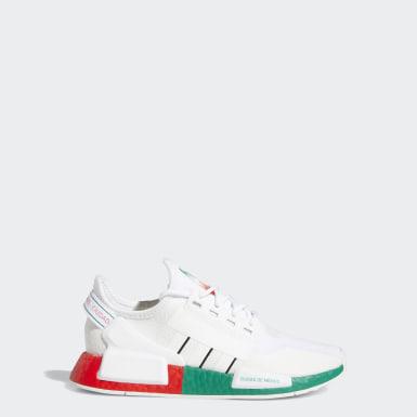 Chaussure NMD_R1 V2 blanc Adolescents Originals