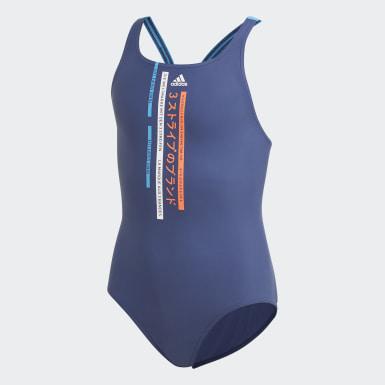 синий Слитный купальник Graphic
