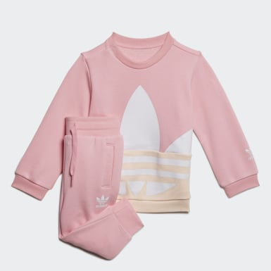 Infant & Toddler Originals Pink Large Trefoil Crew Set