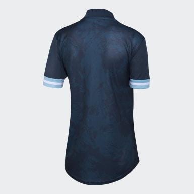 Camiseta Visitante Argentina Azul Mujer Fútbol