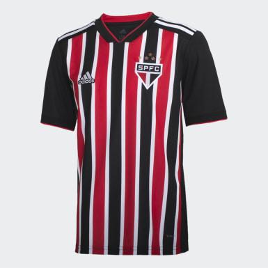 Camisa Sao Paulo Ii Infantil Vermelho Meninos Futebol