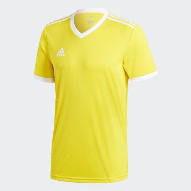 ผู้ชาย ฟุตบอล สีเหลือง เสื้อฟุตบอล Tabela 18