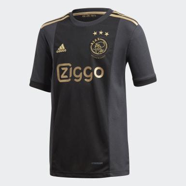 Kinderen Voetbal Zwart Ajax Amsterdam 20/21 Derde Voetbalshirt