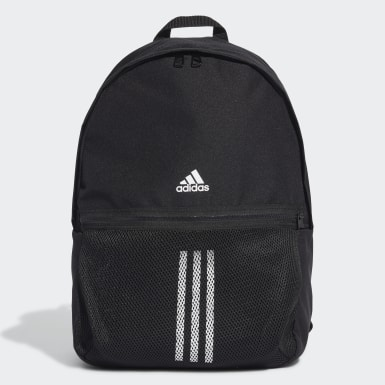 Winter Sports Black Classic 3-Stripes Backpack