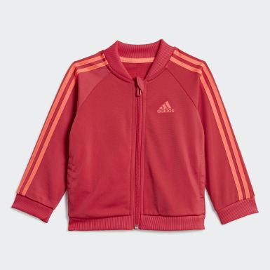 Børn Athletics Pink 3-Stripes Tricot træningsdragt