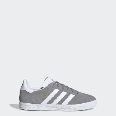 Youth 8-16 Years Originals Grey Gazelle Shoes