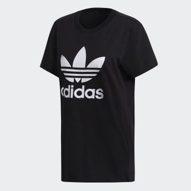 Kvinder Originals Sort Boyfriend Trefoil T-shirt