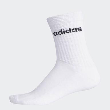 Lifestyle White Basic Crew Socks