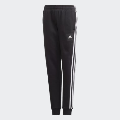 Boys Training Black Must Haves 3-Stripes Pants
