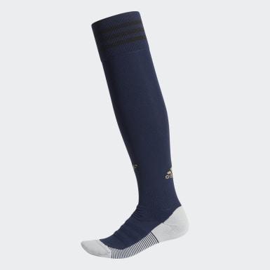 Calcetines Uniforme de Visitante Real Madrid Azul Fútbol