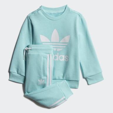 เด็ก Originals สีน้ำเงิน ชุดเสื้อกันหนาวคอกลมและกางเกงขายาว