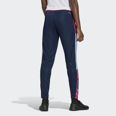 Women Football Blue Human Race Tiro Pants