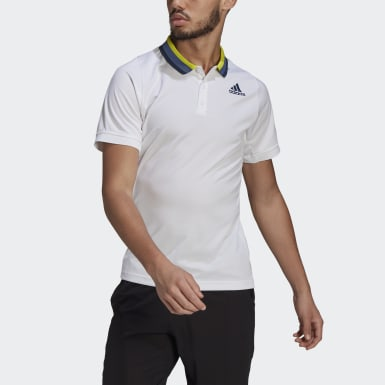 Men Tennis White Tennis Freelift Primeblue HEAT.RDY Polo Shirt