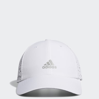 Women Golf White Performance Perforated Cap