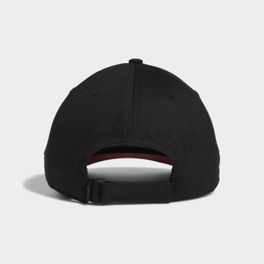 Men Golf Black 3-Stripe Life Cap