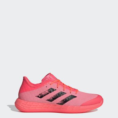 Netball Pink Adizero Fast Court Tokyo Handball Shoes