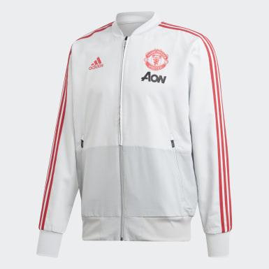 Manchester United Presentation Jacket Gris Hommes Football