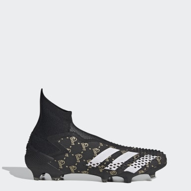 Men Football Black Predator Mutator 20+ Paul Pogba Firm Ground Boots