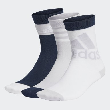Kids Training White Crew Socks 3 Pairs