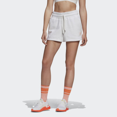 Women adidas by Stella McCartney White adidas by Stella McCartney Sweat Fleece Shorts