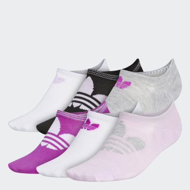Women's Originals Purple Trefoil Superlite No-Show Socks 6 Pairs