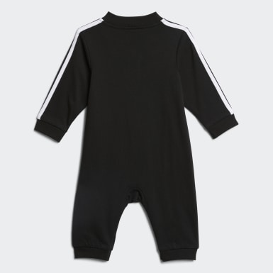 Infant & Toddler Training Black Track Suit Coveralls