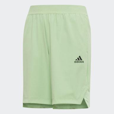 เด็กผู้ชาย โยคะ สีเขียว กางเกงขาสั้น HEAT.RDY