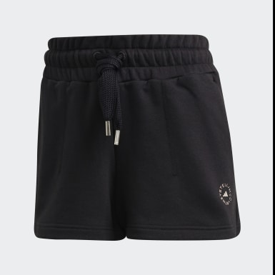 Women adidas by Stella McCartney Black Sweat Fleece Shorts