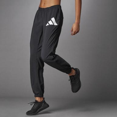 Pantaloni 3 Bar Logo Warm-Up Sports Nero Donna Running