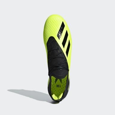 Voetbal Geel X 18.1 Soft Ground Voetbalschoenen