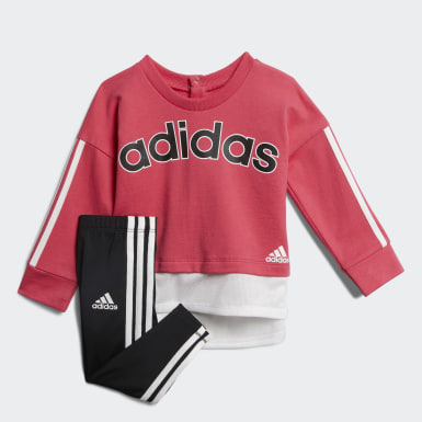 Infant & Toddler Training Pink French Terry Sweatshirt and Tights Set