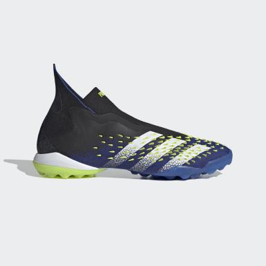 Football Black Predator Freak+ Laceless Turf Boots