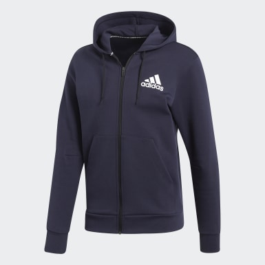 Men Sport Inspired Blue Must Haves Plain Jacket