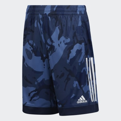 Youth Training Blue AEROREADY Core Camo Shorts