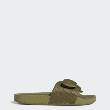 Pharrell Williams Boost Slides Zielony