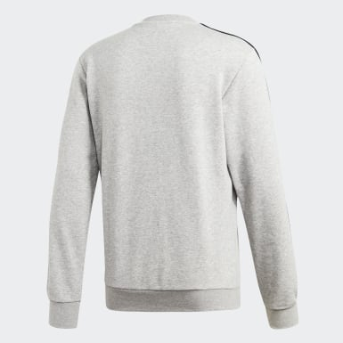 Heren Athletics Grijs Essentials 3-Stripes Sweatshirt