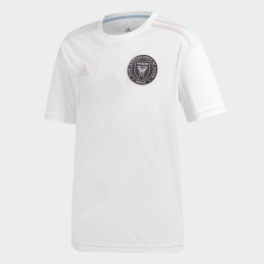Børn Fodbold Hvid Inter Miami CF hjemmebanetrøje