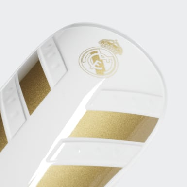 Football White Real Madrid X Pro Shin Guards