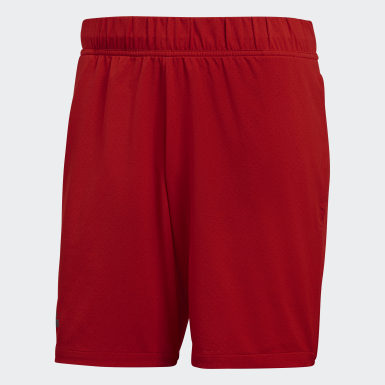 Men Tennis Red Barricade Shorts