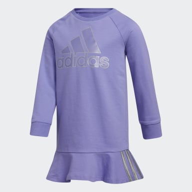 Children Training Purple Dress and Tights Set