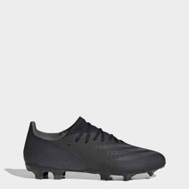 Men Football Black X Ghosted.3 Firm Ground Boots
