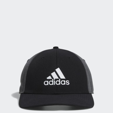 Men Golf Black A-Stretch adidas Badge of Sport Tour Hat