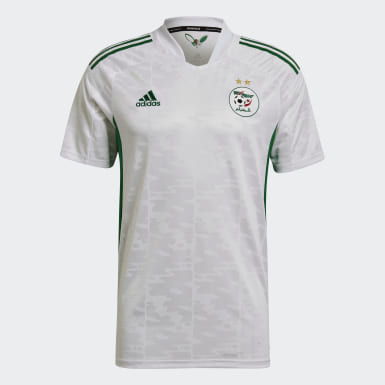 Men Football White Algeria 20/21 Home Jersey
