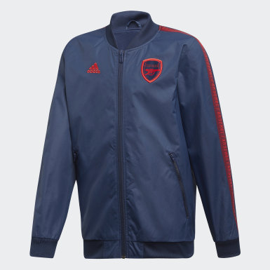Youth 8-16 Years Football Blue Arsenal Anthem Jacket