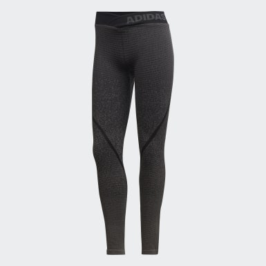 Women Training Grey Alphaskin 360 Seamless Tights