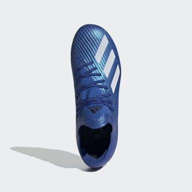 Bota de fútbol X 19.1 césped natural seco Azul Niño Fútbol