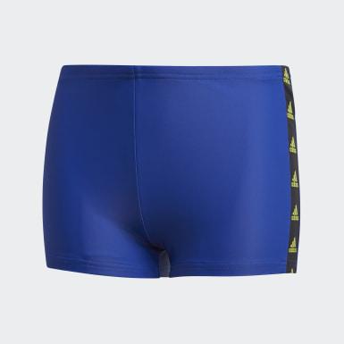 Jungen Schwimmen Tape Boxer-Badehose Blau