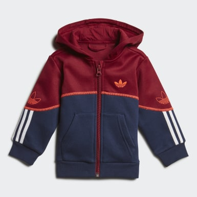 Kids Originals Burgundy Outline Hoodie Set